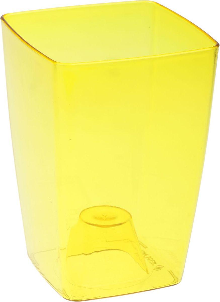 Кашпо JetPlast Сильвия, цвет: желтый, 1,8 л1328270Любой, даже самый современный и продуманный интерьер будет не завершённым без растений. Они не только очищают воздух и насыщают его кислородом, но и заметно украшают окружающее пространство. Такому полезному члену семьи просто необходимо красивое и функциональное кашпо, оригинальный горшок или необычная ваза! Мы предлагаем - Кашпо 1,8 л Сильвия, цвет желтый! Оптимальный выбор материала пластмасса! Почему мы так считаем? -Малый вес. С лёгкостью переносите горшки и кашпо с места на место, ставьте их на столики или полки, подвешивайте под потолок, не беспокоясь о нагрузке. -Простота ухода. Пластиковые изделия не нуждаются в специальных условиях хранения. Их легко чистить достаточно просто сполоснуть тёплой водой. -Никаких царапин. Пластиковые кашпо не царапают и не загрязняют поверхности, на которых стоят. -Пластик дольше хранит влагу, а значит растение реже нуждается в поливе. -Пластмасса не пропускает воздух корневой системе растения не грозят резкие перепады температур. -Огромный выбор форм, декора и расцветок вы без труда подберёте что-то, что идеально впишется в уже существующий интерьер. Соблюдая нехитрые правила ухода, вы можете заметно продлить срок службы горшков, вазонов и кашпо из пластика: -всегда учитывайте размер кроны и корневой системы растения (при разрастании большое растение способно повредить маленький горшок)-берегите изделие от воздействия прямых солнечных лучей, чтобы кашпо и горшки не выцветали-держите кашпо и горшки из пластика подальше от нагревающихся поверхностей. Создавайте прекрасные цветочные композиции, выращивайте рассаду или необычные растения, а низкие цены позволят вам не ограничивать себя в выборе.