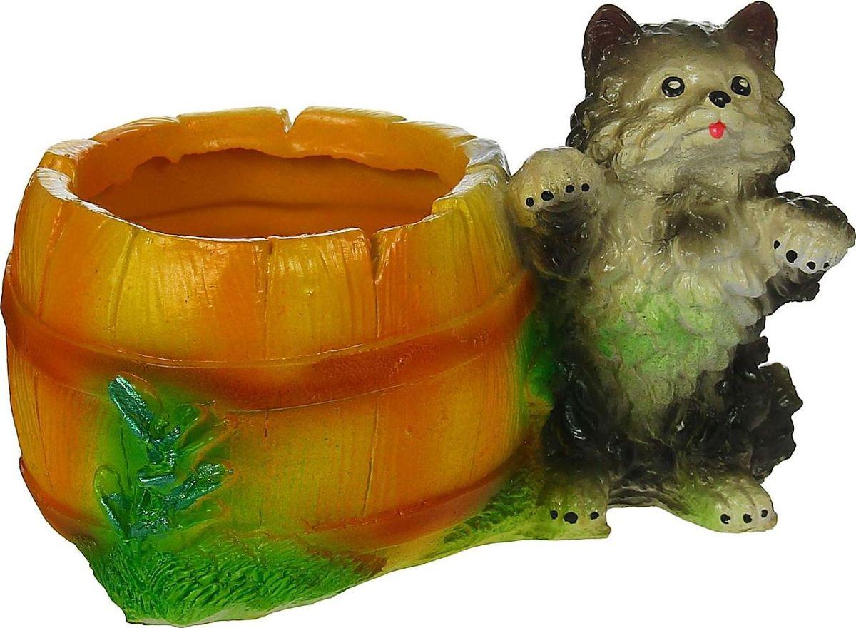 Кашпо Котик, 13 х 21 х 14 см1337257Комнатные растения — всеобщие любимцы. Они радуют глаз, насыщают помещение кислородом и украшают пространство. Каждому из растений необходим свой удобный и красивый дом. Поселите зелёного питомца в яркое и оригинальное фигурное кашпо. Выберите подходящую форму для детской, спальни, гостиной, балкона, офиса или террасы. #name# позаботится о растении, украсит окружающее пространство и подчеркнёт его оригинальный стиль.