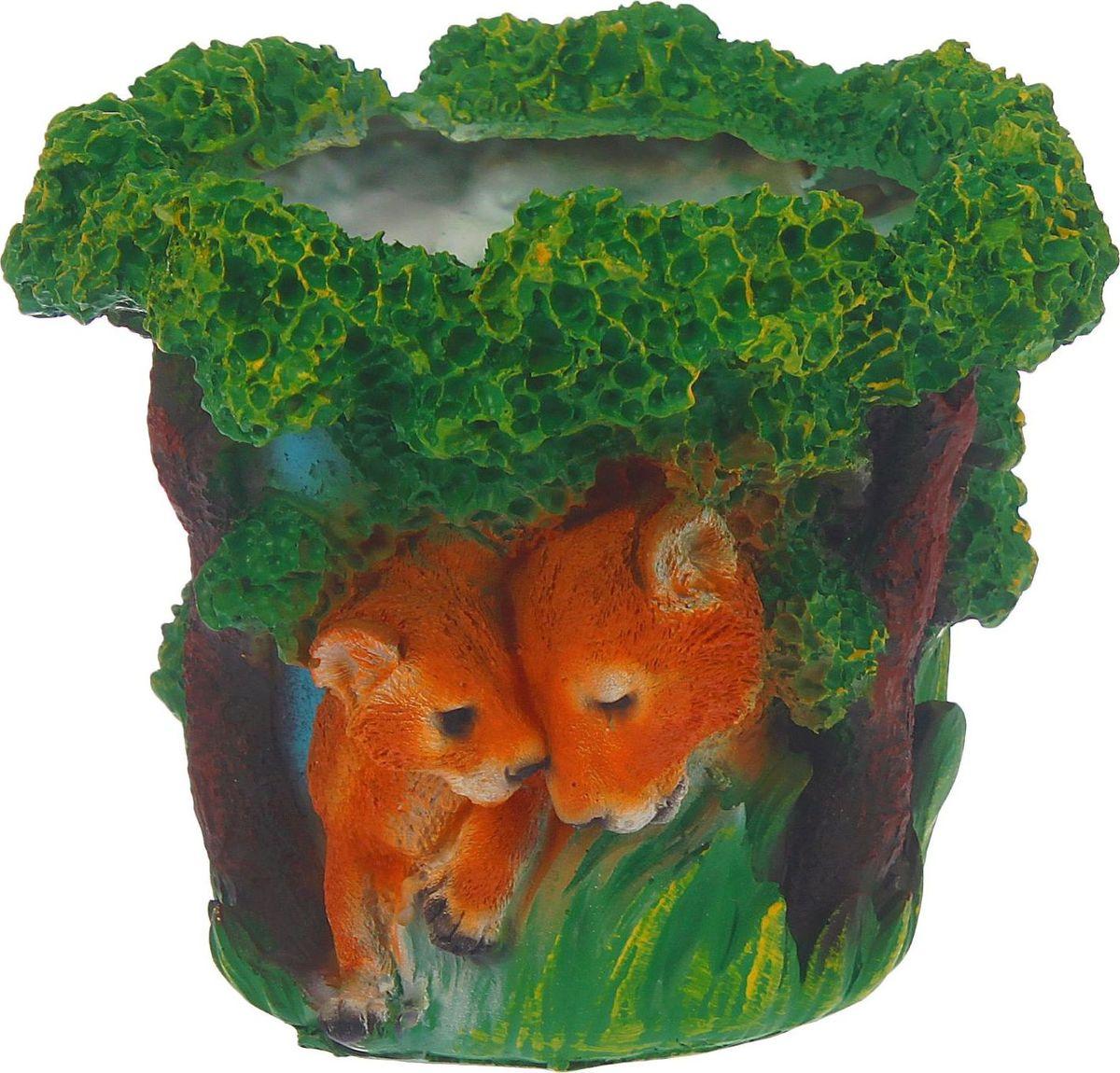 Кашпо Тигры, 20 х 20 х 17 см1343730Комнатные растения — всеобщие любимцы. Они радуют глаз, насыщают помещение кислородом и украшают пространство. Каждому из растений необходим свой удобный и красивый дом. Поселите зелёного питомца в яркое и оригинальное фигурное кашпо. Выберите подходящую форму для детской, спальни, гостиной, балкона, офиса или террасы. #name# позаботится о растении, украсит окружающее пространство и подчеркнёт его оригинальный стиль.