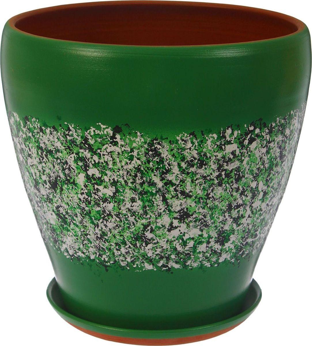 Кашпо, цвет: мрамор, 8 л. 13441241344124Комнатные растения — всеобщие любимцы. Они радуют глаз, насыщают помещение кислородом и украшают пространство. Каждому из них необходим свой удобный и красивый дом. Кашпо из керамики прекрасно подходят для высадки растений: за счёт пластичности глины и разных способов обработки существует великое множество форм и дизайновпористый материал позволяет испаряться лишней влагевоздух, необходимый для дыхания корней, проникает сквозь керамические стенки! #name# позаботится о зелёном питомце, освежит интерьер и подчеркнёт его стиль.