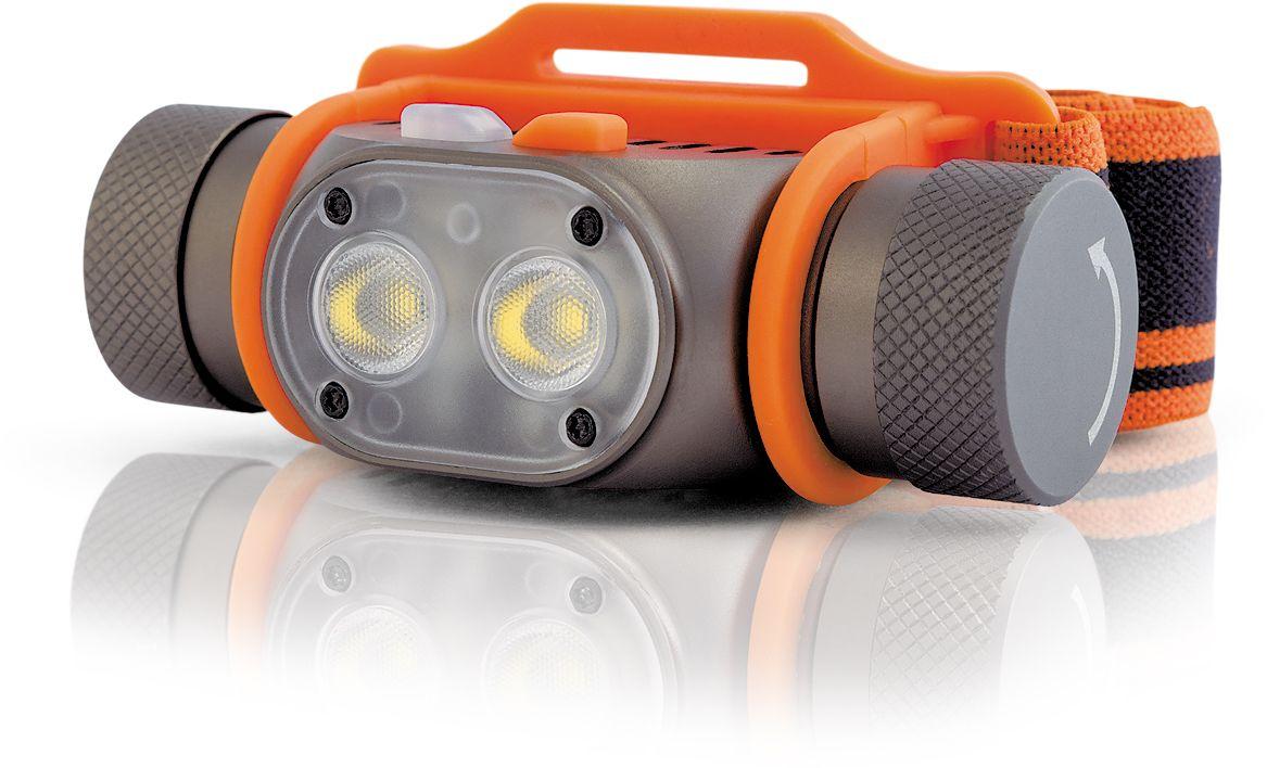 Фонарь налобный Яркий луч PANDA 2R4606400105695Компактный налобный фонарь на аккумуляторе 18650 с двумя яркими светодиодами и встроенным зарядным устройством PANDA 2R. Особенности: - Два современных светодиода XP-G3 nw. - Нейтральный свет, приближенный к солнечному (4200К). - Питание от Li-Ion аккумулятора формата 18650 (входит в комплект). - Четыре основных стабилизированных режима яркости: 3, 35, 120 и 450 лм. - Дополнительный турбо-режим 800 лм.- Дополнительный красный маяк.- TIR-оптика.- Отключаемая память режимов. - Встроенное зарядное устройство с портом micro-USB- Качественный Li-Ion аккумулятор 2600 мАч в комплекте. Режимы: Четыре стабилизированных режима яркости: «moonlight» – 3 люмена, 450 часов работы; слабый – 35 лм, 45 часов работы; средний – 120 лм, 11 часов работы; сильный – 450 лм, 3 часа работы.Дополнительный pежим «турбо», 800 лм (без фиксации).Встроенное зарядное устройство работает через порт micro-USB, от сетевого адаптера или порта компьютера. Рекомендуется использовать USB-адаптер с током не менее 1А.Для доступа к зарядному устройству открутите крышку с обозначением USB-контакта. В процессе заряда аккумулятора горит красный индикаторный диод, при завершении заряда – зеленый.Управление:Основные режимы: Для включения фонаря нажмите белую кнопку. Повторные быстрые нажатия в течение двух секунд после включения позволят изменить режим. Выбранный режим запоминается (при включенной функции памяти). На включенном фонаре смена режимов производится удержанием белой кнопки. Короткое нажатие на белую кнопку выключает фонарь.Для быстрого доступа к режиму «moonlight» на выключенном фонаре нажмите и удерживайте белую кнопку.Турбо-режим: Для активации турбо-режима на включенном фонаре нажмите и удерживайте красную кнопку. Фонарь будет работать в турбо-режиме до прекращения удержания, после чего вернется в прежний режим яркости. Запуск турбо-режима из выключенного состояния не возможен во избежание случайного ослепления.Красный маяк: Для активации функции маяк