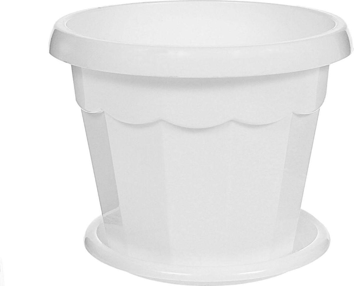 Горшок для цветов Доляна Эрика, с поддоном, цвет: белый, 700 мл1345252Любой, даже самый современный и продуманный интерьер будет не завершенным без растений. Они не только очищают воздух и насыщают его кислородом, но и заметно украшают окружающее пространство. Такому полезному члену семьи просто необходимо красивое и функциональное кашпо, оригинальный горшок или необычная ваза! Мы предлагаем - Горшок для цветов 0,7 л с поддоном Эрика, цвет белый! Оптимальный выбор материала - это пластмасса! Почему мы так считаем? Малый вес. С легкостью переносите горшки и кашпо с места на место, ставьте их на столики или полки, подвешивайте под потолок, не беспокоясь о нагрузке. Простота ухода. Пластиковые изделия не нуждаются в специальных условиях хранения. Их легко чистить достаточно просто сполоснуть теплой водой. Никаких царапин. Пластиковые кашпо не царапают и не загрязняют поверхности, на которых стоят. Пластик дольше хранит влагу, а значит растение реже нуждается в поливе. Пластмасса не пропускает воздух корневой системе растения не грозят резкие перепады температур. Огромный выбор форм, декора и расцветок вы без труда подберете что-то, что идеально впишется в уже существующий интерьер. Соблюдая нехитрые правила ухода, вы можете заметно продлить срок службы горшков, вазонов и кашпо из пластика: всегда учитывайте размер кроны и корневой системы растения (при разрастании большое растение способно повредить маленький горшок) берегите изделие от воздействия прямых солнечных лучей, чтобы кашпо и горшки не выцветали держите кашпо и горшки из пластика подальше от нагревающихся поверхностей. Создавайте прекрасные цветочные композиции, выращивайте рассаду или необычные растения, а низкие цены позволят вам не ограничивать себя в выборе.