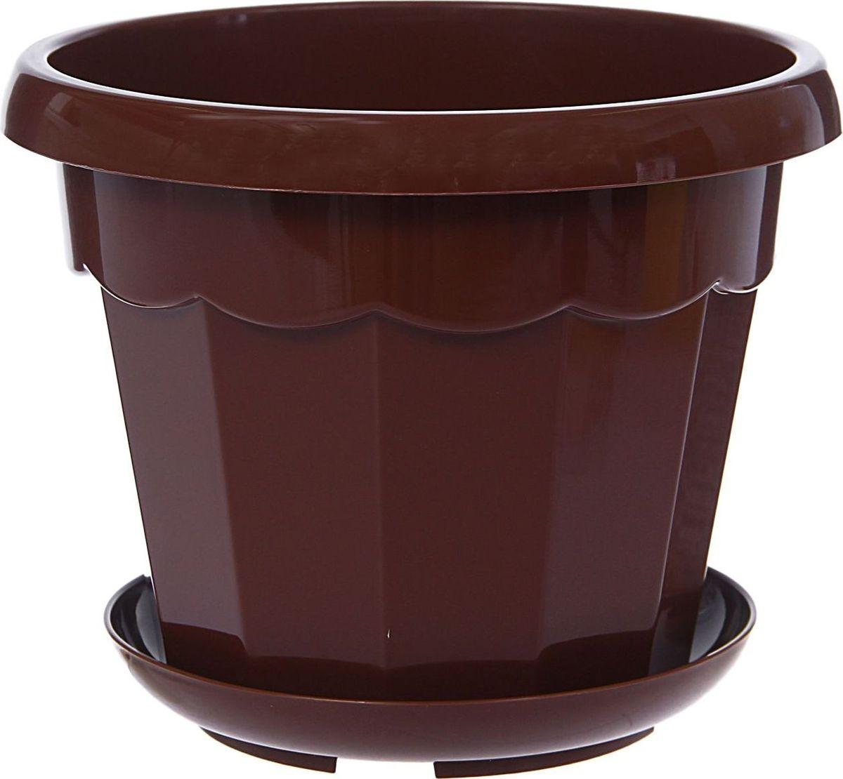 """Любой, даже самый современный и продуманный интерьер будет не завершенным без растений. Они не только очищают воздух и насыщают его кислородом, но и заметно украшают окружающее пространство. Такому полезному члену семьи просто необходимо красивое и функциональное кашпо, оригинальный горшок или необычная ваза! Мы предлагаем - Горшок для цветов 1,8 л с поддоном """"Эрика"""", цвет терракотовый! Оптимальный выбор материала - это пластмасса! Почему мы так считаем? Малый вес. С легкостью переносите горшки и кашпо с места на место, ставьте их на столики или полки, подвешивайте под потолок, не беспокоясь о нагрузке. Простота ухода. Пластиковые изделия не нуждаются в специальных условиях хранения. Их легко чистить достаточно просто сполоснуть теплой водой. Никаких царапин. Пластиковые кашпо не царапают и не загрязняют поверхности, на которых стоят. Пластик дольше хранит влагу, а значит растение реже нуждается в поливе. Пластмасса не пропускает воздух корневой системе растения не грозят резкие перепады температур. Огромный выбор форм, декора и расцветок вы без труда подберете что-то, что идеально впишется в уже существующий интерьер. Соблюдая нехитрые правила ухода, вы можете заметно продлить срок службы горшков, вазонов и кашпо из пластика: всегда учитывайте размер кроны и корневой системы растения (при разрастании большое растение способно повредить маленький горшок) берегите изделие от воздействия прямых солнечных лучей, чтобы кашпо и горшки не выцветали держите кашпо и горшки из пластика подальше от нагревающихся поверхностей. Создавайте прекрасные цветочные композиции, выращивайте рассаду или необычные растения, а низкие цены позволят вам не ограничивать себя в выборе."""