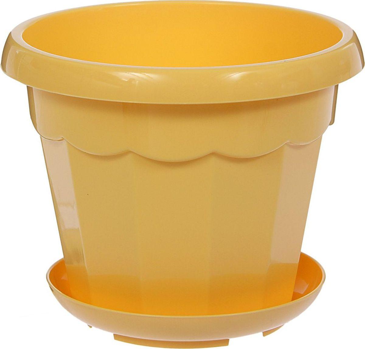 Горшок для цветов Доляна Эрика, с поддоном, цвет: желтый, 1,8 л1355435Любой, даже самый современный и продуманный интерьер будет не завершенным без растений. Они не только очищают воздух и насыщают его кислородом, но и заметно украшают окружающее пространство. Такому полезному члену семьи просто необходимо красивое и функциональное кашпо, оригинальный горшок или необычная ваза! Мы предлагаем - Горшок для цветов 1,8 л с поддоном Эрика, цвет желтый! Оптимальный выбор материала - это пластмасса! Почему мы так считаем? Малый вес. С легкостью переносите горшки и кашпо с места на место, ставьте их на столики или полки, подвешивайте под потолок, не беспокоясь о нагрузке. Простота ухода. Пластиковые изделия не нуждаются в специальных условиях хранения. Их легко чистить достаточно просто сполоснуть теплой водой. Никаких царапин. Пластиковые кашпо не царапают и не загрязняют поверхности, на которых стоят. Пластик дольше хранит влагу, а значит растение реже нуждается в поливе. Пластмасса не пропускает воздух корневой системе растения не грозят резкие перепады температур. Огромный выбор форм, декора и расцветок вы без труда подберете что-то, что идеально впишется в уже существующий интерьер. Соблюдая нехитрые правила ухода, вы можете заметно продлить срок службы горшков, вазонов и кашпо из пластика: всегда учитывайте размер кроны и корневой системы растения (при разрастании большое растение способно повредить маленький горшок) берегите изделие от воздействия прямых солнечных лучей, чтобы кашпо и горшки не выцветали держите кашпо и горшки из пластика подальше от нагревающихся поверхностей. Создавайте прекрасные цветочные композиции, выращивайте рассаду или необычные растения, а низкие цены позволят вам не ограничивать себя в выборе.