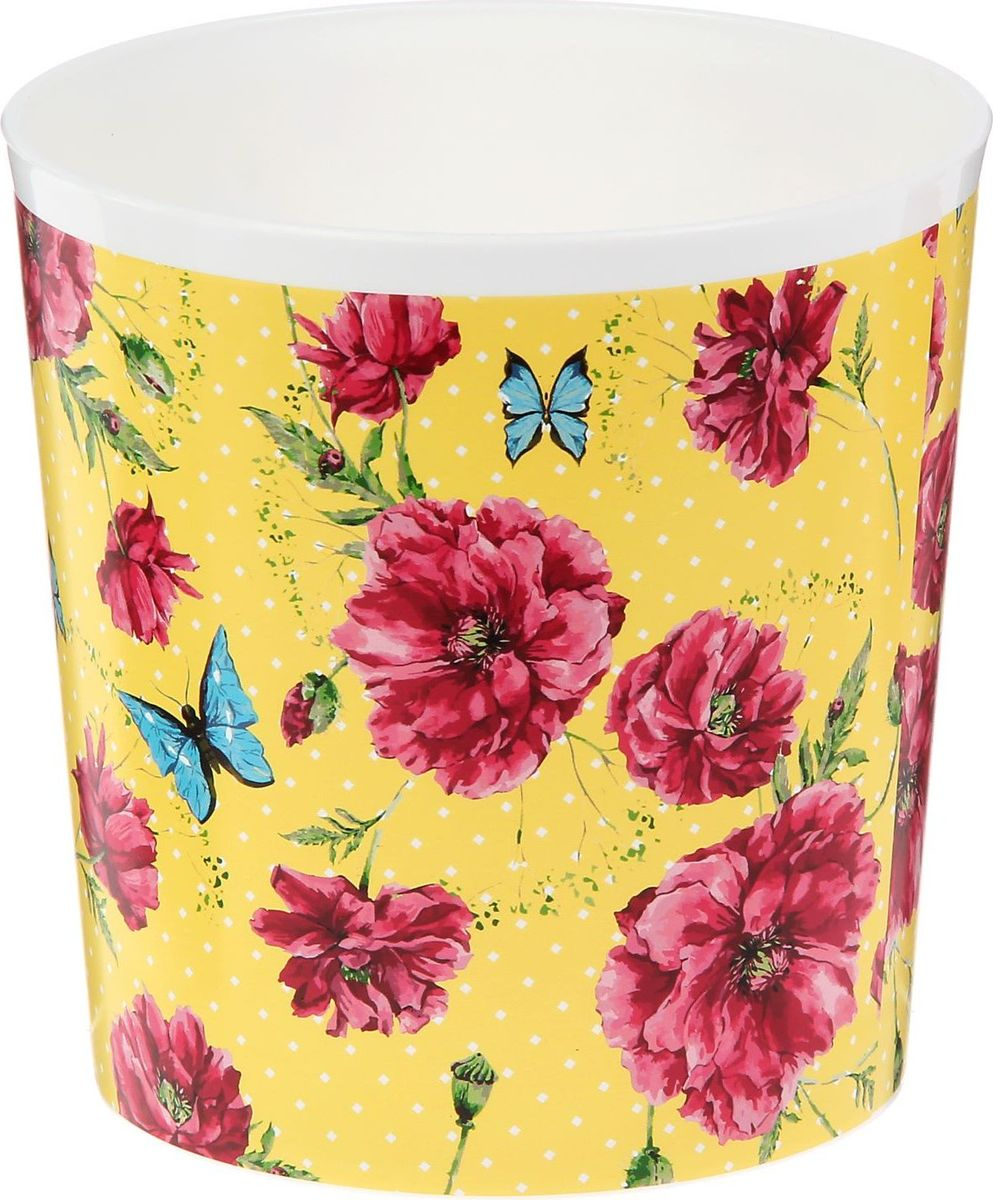 Кашпо Доляна Цветы и бабочки, 1,6 л1345298Сложно представить дом, в котором нет растений. Они радуют владельца, очищают воздух, насыщают его кислородом и украшают интерьер. Каждому зеленому помощнику необходим собственный оригинальный домик, и Кашпо 1,6 л Цветы и бабочки прекрасно справится с этой ролью. Легкое и прочное изделие позволит вам создать чудесные цветочные композиции, вырастить рассаду или необычные растения. Диаметр основания — 11,5 см.