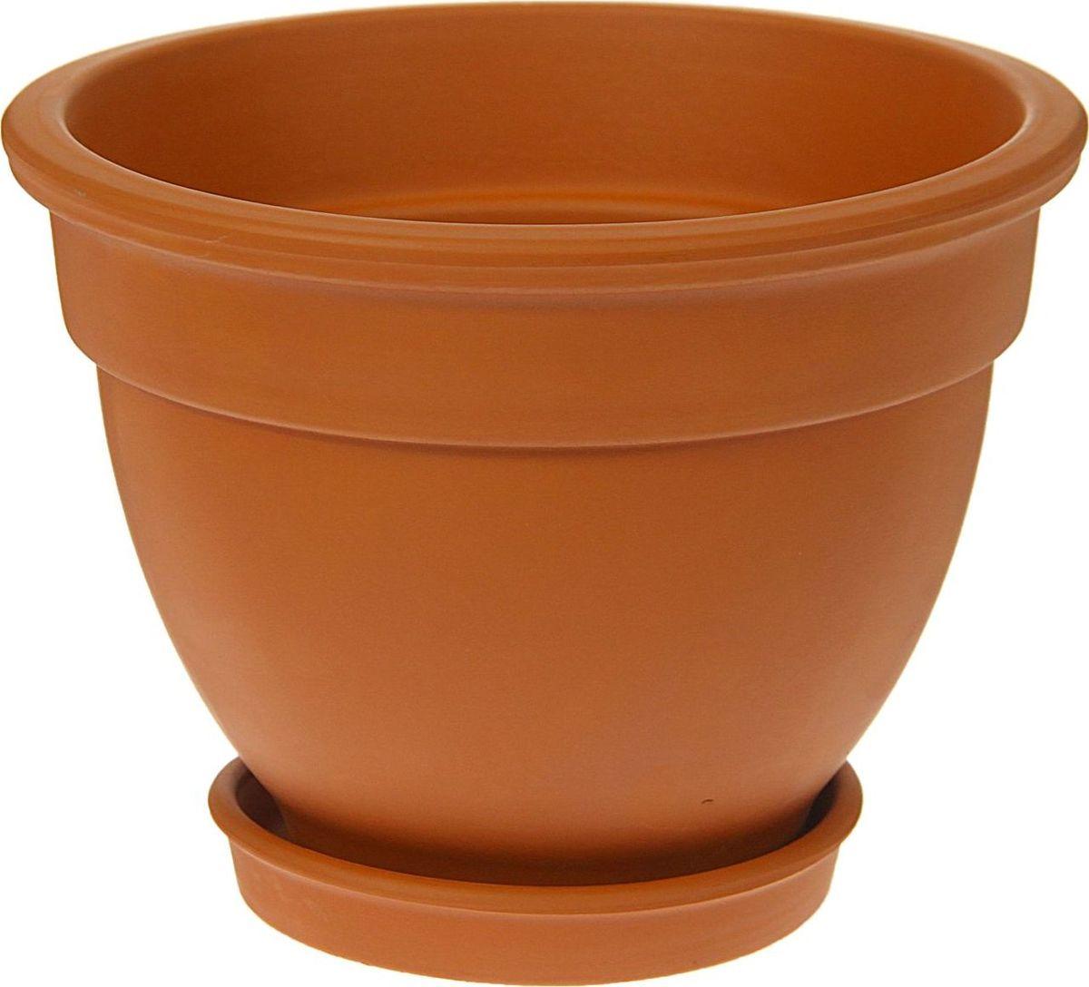 Кашпо Керамика ручной работы Кампана, цвет: коричневый, 2 л1354674Комнатные растения — всеобщие любимцы. Они радуют глаз, насыщают помещение кислородом и украшают пространство. Каждому из них необходим свой удобный и красивый дом. Кашпо из керамики прекрасно подходят для высадки растений: за счёт пластичности глины и разных способов обработки существует великое множество форм и дизайновпористый материал позволяет испаряться лишней влагевоздух, необходимый для дыхания корней, проникает сквозь керамические стенки! #name# позаботится о зелёном питомце, освежит интерьер и подчеркнёт его стиль.