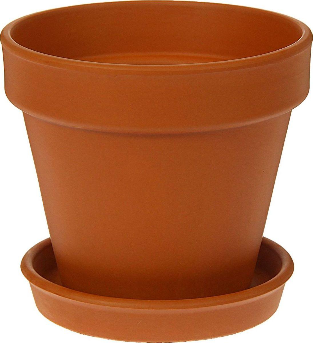 Кашпо Керамика ручной работы Стандарт, цвет: коричневый, 2 л1354679Комнатные растения — всеобщие любимцы. Они радуют глаз, насыщают помещение кислородом и украшают пространство. Каждому из них необходим свой удобный и красивый дом. Кашпо из керамики прекрасно подходят для высадки растений: за счёт пластичности глины и разных способов обработки существует великое множество форм и дизайновпористый материал позволяет испаряться лишней влагевоздух, необходимый для дыхания корней, проникает сквозь керамические стенки! #name# позаботится о зелёном питомце, освежит интерьер и подчеркнёт его стиль.