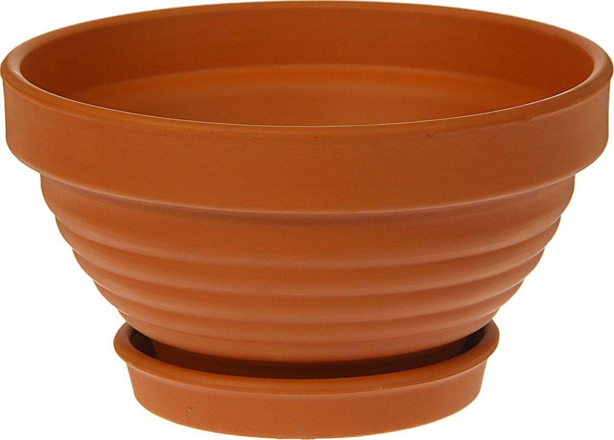 Кашпо Керамика ручной работы Рельеф, цвет: коричневый, 1 л1354686Комнатные растения — всеобщие любимцы. Они радуют глаз, насыщают помещение кислородом и украшают пространство. Каждому из них необходим свой удобный и красивый дом. Кашпо из керамики прекрасно подходят для высадки растений: за счёт пластичности глины и разных способов обработки существует великое множество форм и дизайновпористый материал позволяет испаряться лишней влагевоздух, необходимый для дыхания корней, проникает сквозь керамические стенки! #name# позаботится о зелёном питомце, освежит интерьер и подчеркнёт его стиль.