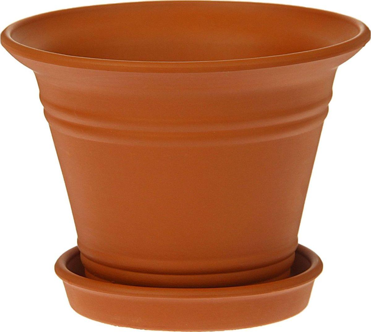 Кашпо Керамика ручной работы Рельеф, цвет: коричневый, 1 л1354690Комнатные растения — всеобщие любимцы. Они радуют глаз, насыщают помещение кислородом и украшают пространство. Каждому из них необходим свой удобный и красивый дом. Кашпо из керамики прекрасно подходят для высадки растений: за счёт пластичности глины и разных способов обработки существует великое множество форм и дизайновпористый материал позволяет испаряться лишней влагевоздух, необходимый для дыхания корней, проникает сквозь керамические стенки! #name# позаботится о зелёном питомце, освежит интерьер и подчеркнёт его стиль.