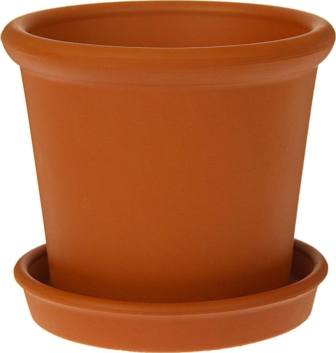 Кашпо Керамика ручной работы Ирис, цвет: коричневый, 0,6 л1354692Комнатные растения — всеобщие любимцы. Они радуют глаз, насыщают помещение кислородом и украшают пространство. Каждому из них необходим свой удобный и красивый дом. Кашпо из керамики прекрасно подходят для высадки растений: за счёт пластичности глины и разных способов обработки существует великое множество форм и дизайновпористый материал позволяет испаряться лишней влагевоздух, необходимый для дыхания корней, проникает сквозь керамические стенки! #name# позаботится о зелёном питомце, освежит интерьер и подчеркнёт его стиль.