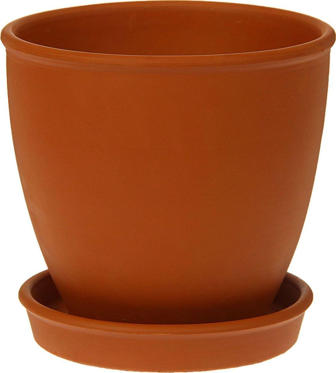 Кашпо Керамика ручной работы Стандарт, цвет: коричневый, 2 л1354695