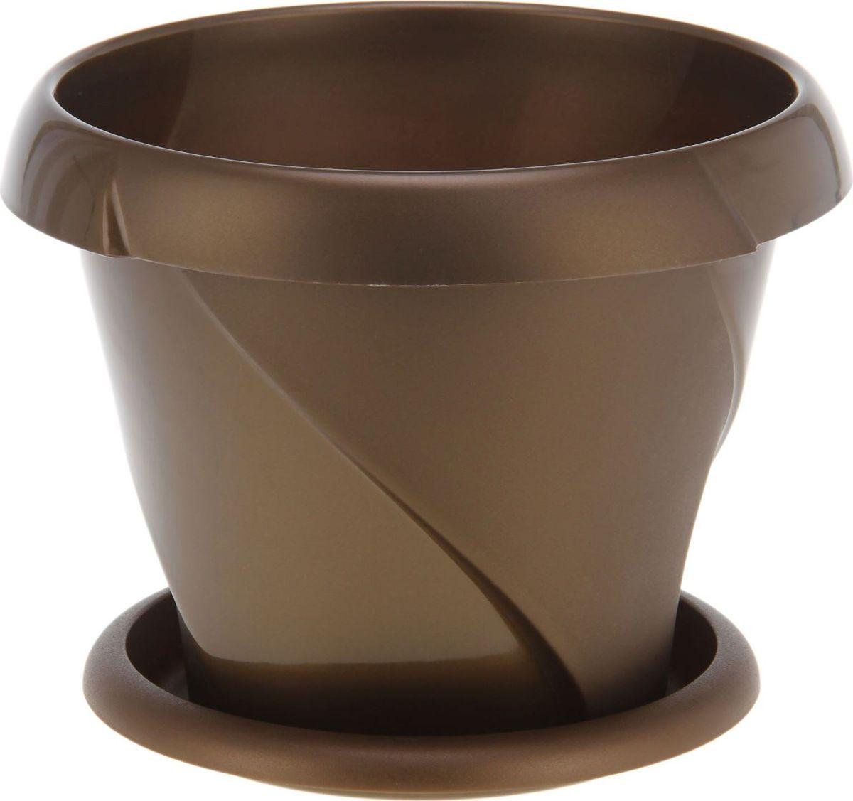 Кашпо Martika Флориана, с поддоном, цвет: золотистый, 9,2 л1355400Любой, даже самый современный и продуманный интерьер будет не завершённым без растений. Они не только очищают воздух и насыщают его кислородом, но и заметно украшают окружающее пространство. Такому полезному &laquo члену семьи&raquoпросто необходимо красивое и функциональное кашпо, оригинальный горшок или необычная ваза! Мы предлагаем - Кашпо с поддонником 9,2 л Флориана, d=31,5 см, цвет золотой!Оптимальный выбор материала &mdash &nbsp пластмасса! Почему мы так считаем? Малый вес. С лёгкостью переносите горшки и кашпо с места на место, ставьте их на столики или полки, подвешивайте под потолок, не беспокоясь о нагрузке. Простота ухода. Пластиковые изделия не нуждаются в специальных условиях хранения. Их&nbsp легко чистить &mdashдостаточно просто сполоснуть тёплой водой. Никаких царапин. Пластиковые кашпо не царапают и не загрязняют поверхности, на которых стоят. Пластик дольше хранит влагу, а значит &mdashрастение реже нуждается в поливе. Пластмасса не пропускает воздух &mdashкорневой системе растения не грозят резкие перепады температур. Огромный выбор форм, декора и расцветок &mdashвы без труда подберёте что-то, что идеально впишется в уже существующий интерьер.Соблюдая нехитрые правила ухода, вы можете заметно продлить срок службы горшков, вазонов и кашпо из пластика: всегда учитывайте размер кроны и корневой системы растения (при разрастании большое растение способно повредить маленький горшок)берегите изделие от воздействия прямых солнечных лучей, чтобы кашпо и горшки не выцветалидержите кашпо и горшки из пластика подальше от нагревающихся поверхностей.Создавайте прекрасные цветочные композиции, выращивайте рассаду или необычные растения, а низкие цены позволят вам не ограничивать себя в выборе.