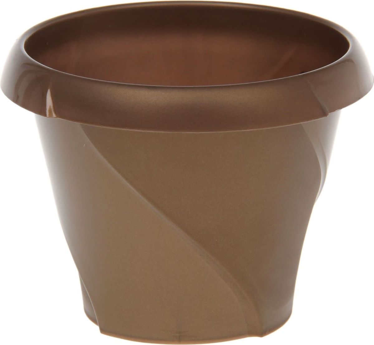 Кашпо Martika Флориана, цвет: золотистый, 0,7 л1355434Любой, даже самый современный и продуманный интерьер будет не завершенным без растений. Они не только очищают воздух и насыщают его кислородом, но и заметно украшают окружающее пространство. Такому полезному члену семьи просто необходимо красивое и функциональное кашпо, оригинальный горшок или необычная ваза! Мы предлагаем - Кашпо 700 мл Флориана, d=13,5 см, цвет золотой! Оптимальный выбор материала - это пластмасса! Почему мы так считаем? Малый вес. С легкостью переносите горшки и кашпо с места на место, ставьте их на столики или полки, подвешивайте под потолок, не беспокоясь о нагрузке. Простота ухода. Пластиковые изделия не нуждаются в специальных условиях хранения. Их легко чистить достаточно просто сполоснуть теплой водой. Никаких царапин. Пластиковые кашпо не царапают и не загрязняют поверхности, на которых стоят. Пластик дольше хранит влагу, а значит растение реже нуждается в поливе. Пластмасса не пропускает воздух корневой системе растения не грозят резкие перепады температур. Огромный выбор форм, декора и расцветок вы без труда подберете что-то, что идеально впишется в уже существующий интерьер. Соблюдая нехитрые правила ухода, вы можете заметно продлить срок службы горшков, вазонов и кашпо из пластика: всегда учитывайте размер кроны и корневой системы растения (при разрастании большое растение способно повредить маленький горшок) берегите изделие от воздействия прямых солнечных лучей, чтобы кашпо и горшки не выцветали держите кашпо и горшки из пластика подальше от нагревающихся поверхностей. Создавайте прекрасные цветочные композиции, выращивайте рассаду или необычные растения, а низкие цены позволят вам не ограничивать себя в выборе.