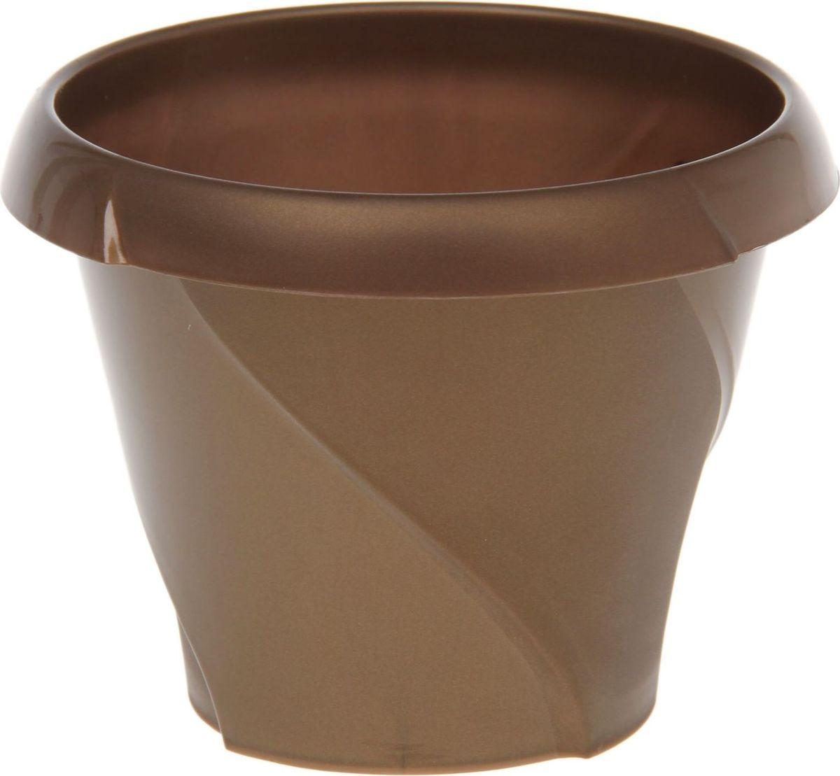 """Любой, даже самый современный и продуманный интерьер будет не завершенным без растений. Они не только очищают воздух и насыщают его кислородом, но и заметно украшают окружающее пространство. Такому полезному члену семьи просто необходимо красивое и функциональное кашпо, оригинальный горшок или необычная ваза! Мы предлагаем - Кашпо 1,4 л """"Флориана"""", d=17 см, цвет золотой! Оптимальный выбор материала - это пластмасса! Почему мы так считаем? Малый вес. С легкостью переносите горшки и кашпо с места на место, ставьте их на столики или полки, подвешивайте под потолок, не беспокоясь о нагрузке. Простота ухода. Пластиковые изделия не нуждаются в специальных условиях хранения. Их легко чистить достаточно просто сполоснуть теплой водой. Никаких царапин. Пластиковые кашпо не царапают и не загрязняют поверхности, на которых стоят. Пластик дольше хранит влагу, а значит растение реже нуждается в поливе. Пластмасса не пропускает воздух корневой системе растения не грозят резкие перепады температур. Огромный выбор форм, декора и расцветок вы без труда подберете что-то, что идеально впишется в уже существующий интерьер. Соблюдая нехитрые правила ухода, вы можете заметно продлить срок службы горшков, вазонов и кашпо из пластика: всегда учитывайте размер кроны и корневой системы растения (при разрастании большое растение способно повредить маленький горшок) берегите изделие от воздействия прямых солнечных лучей, чтобы кашпо и горшки не выцветали держите кашпо и горшки из пластика подальше от нагревающихся поверхностей. Создавайте прекрасные цветочные композиции, выращивайте рассаду или необычные растения, а низкие цены позволят вам не ограничивать себя в выборе."""