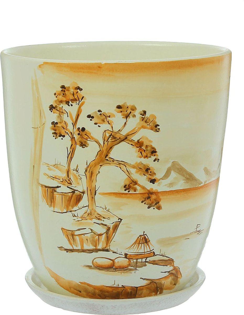 Кашпо Япония, 5 л1369831Комнатные растения — всеобщие любимцы. Они радуют глаз, насыщают помещение кислородом и украшают пространство. Каждому из них необходим свой удобный и красивый дом. Кашпо из керамики прекрасно подходят для высадки растений: за счёт пластичности глины и разных способов обработки существует великое множество форм и дизайновпористый материал позволяет испаряться лишней влагевоздух, необходимый для дыхания корней, проникает сквозь керамические стенки! #name# позаботится о зелёном питомце, освежит интерьер и подчеркнёт его стиль.