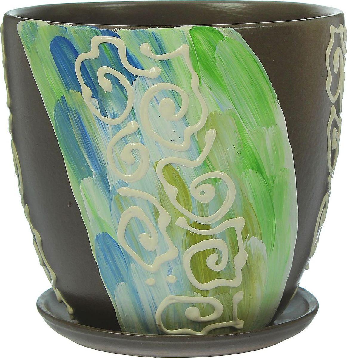 Кашпо Аква, 2,6 л1369838Комнатные растения — всеобщие любимцы. Они радуют глаз, насыщают помещение кислородом и украшают пространство. Каждому из них необходим свой удобный и красивый дом. Кашпо из керамики прекрасно подходят для высадки растений: за счёт пластичности глины и разных способов обработки существует великое множество форм и дизайновпористый материал позволяет испаряться лишней влагевоздух, необходимый для дыхания корней, проникает сквозь керамические стенки! #name# позаботится о зелёном питомце, освежит интерьер и подчеркнёт его стиль.