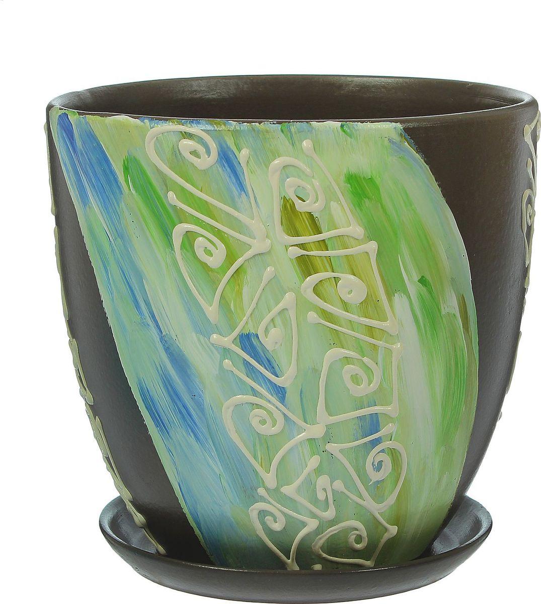 Кашпо Аква, 4,8 л1369839Комнатные растения — всеобщие любимцы. Они радуют глаз, насыщают помещение кислородом и украшают пространство. Каждому из них необходим свой удобный и красивый дом. Кашпо из керамики прекрасно подходят для высадки растений: за счёт пластичности глины и разных способов обработки существует великое множество форм и дизайновпористый материал позволяет испаряться лишней влагевоздух, необходимый для дыхания корней, проникает сквозь керамические стенки! #name# позаботится о зелёном питомце, освежит интерьер и подчеркнёт его стиль.
