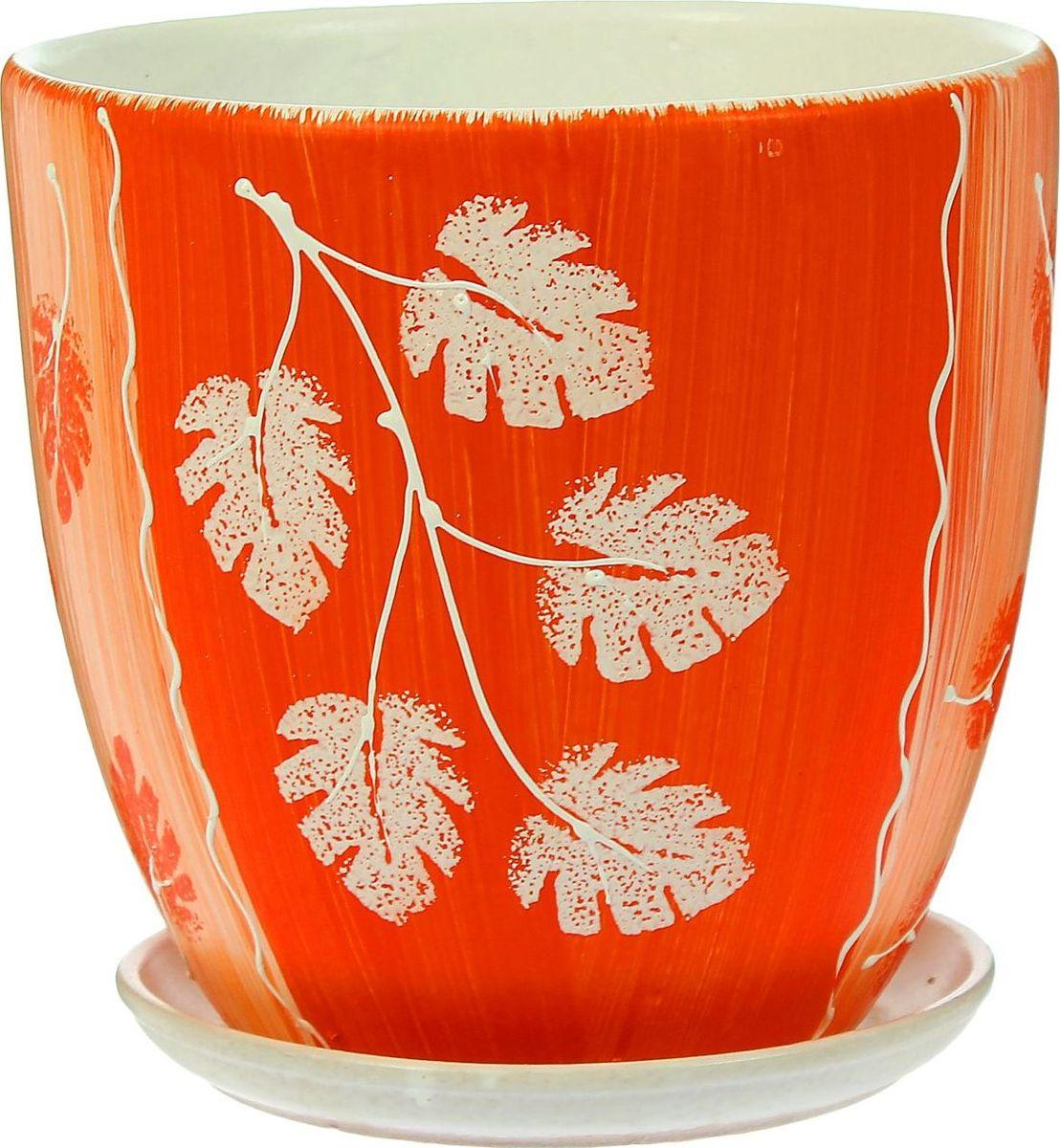 Кашпо Акварель, цвет: оранжевый, 2,6 л1403453Комнатные растения — всеобщие любимцы. Они радуют глаз, насыщают помещение кислородом и украшают пространство. Каждому из них необходим свой удобный и красивый дом. Кашпо из керамики прекрасно подходят для высадки растений: за счёт пластичности глины и разных способов обработки существует великое множество форм и дизайновпористый материал позволяет испаряться лишней влагевоздух, необходимый для дыхания корней, проникает сквозь керамические стенки! #name# позаботится о зелёном питомце, освежит интерьер и подчеркнёт его стиль.
