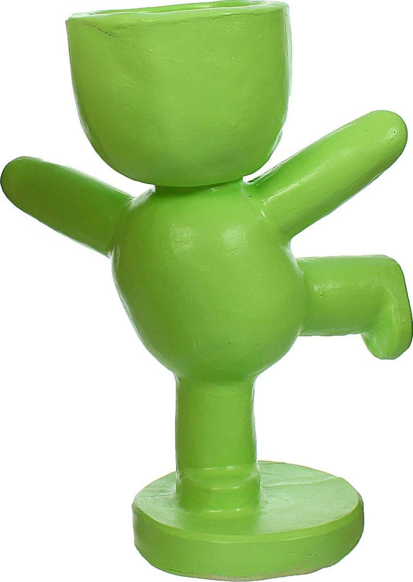 Кашпо Гимнаст, цвет: зеленый, 19 х 28 х 35 см1406913Комнатные растения — всеобщие любимцы. Они радуют глаз, насыщают помещение кислородом и украшают пространство. Каждому из растений необходим свой удобный и красивый дом. Поселите зелёного питомца в яркое и оригинальное фигурное кашпо. Выберите подходящую форму для детской, спальни, гостиной, балкона, офиса или террасы. #name# позаботится о растении, украсит окружающее пространство и подчеркнёт его оригинальный стиль.