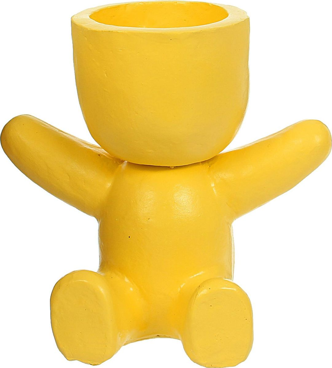 Кашпо Сидящий человечек, цвет: желтый, 17 х 27 х 25 см1406919Комнатные растения — всеобщие любимцы. Они радуют глаз, насыщают помещение кислородом и украшают пространство. Каждому из растений необходим свой удобный и красивый дом. Поселите зелёного питомца в яркое и оригинальное фигурное кашпо. Выберите подходящую форму для детской, спальни, гостиной, балкона, офиса или террасы. #name# позаботится о растении, украсит окружающее пространство и подчеркнёт его оригинальный стиль.