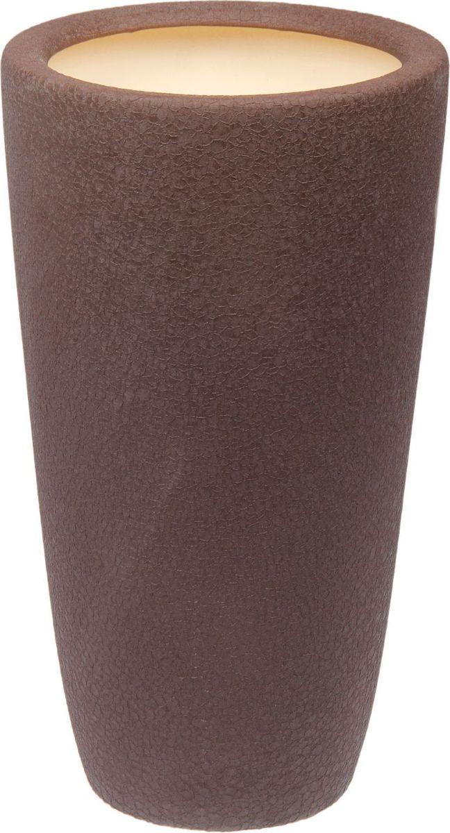 Кашпо Керамика ручной работы Цилиндр, цвет: шоколадный, 17 л1489737Комнатные растения — всеобщие любимцы. Они радуют глаз, насыщают помещение кислородом и украшают пространство. Каждому из них необходим свой удобный и красивый дом. Кашпо из керамики прекрасно подходят для высадки растений: за счёт пластичности глины и разных способов обработки существует великое множество форм и дизайновпористый материал позволяет испаряться лишней влагевоздух, необходимый для дыхания корней, проникает сквозь керамические стенки! #name# позаботится о зелёном питомце, освежит интерьер и подчеркнёт его стиль.