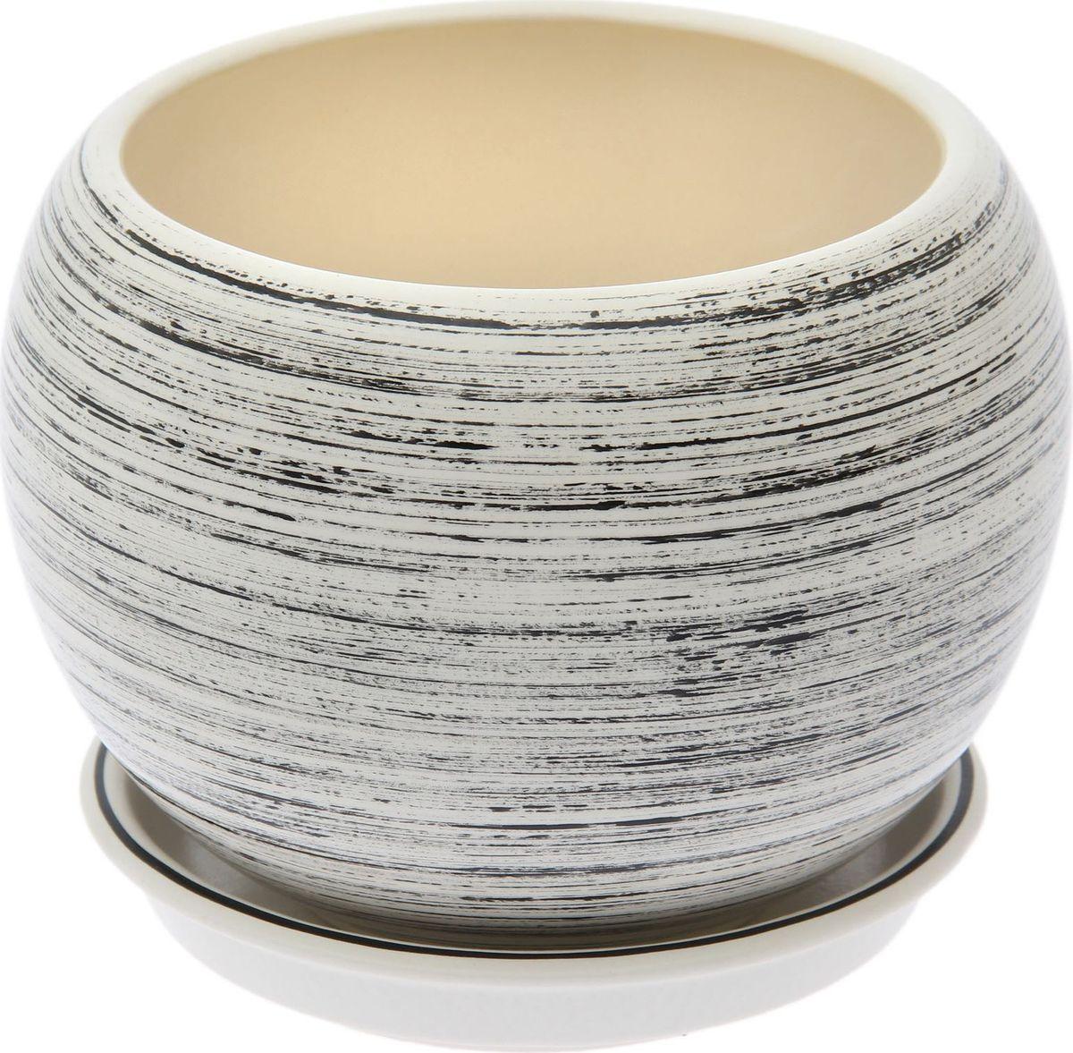 Кашпо Керамика ручной работы Шар, цвет: черный, белый, 4,1 л1489746Комнатные растения — всеобщие любимцы. Они радуют глаз, насыщают помещение кислородом и украшают пространство. Каждому из них необходим свой удобный и красивый дом. Кашпо из керамики прекрасно подходят для высадки растений: за счёт пластичности глины и разных способов обработки существует великое множество форм и дизайновпористый материал позволяет испаряться лишней влагевоздух, необходимый для дыхания корней, проникает сквозь керамические стенки! #name# позаботится о зелёном питомце, освежит интерьер и подчеркнёт его стиль.