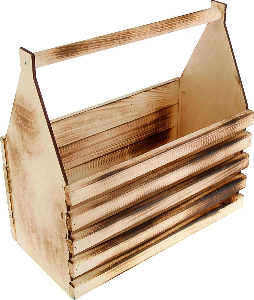 Кашпо ТД ДМ Ящик для инструментов, обожженный, 40 х 40 х 20 см кашпо тд дм ящик любовь флористическое 20 х 16 х 9 5 см