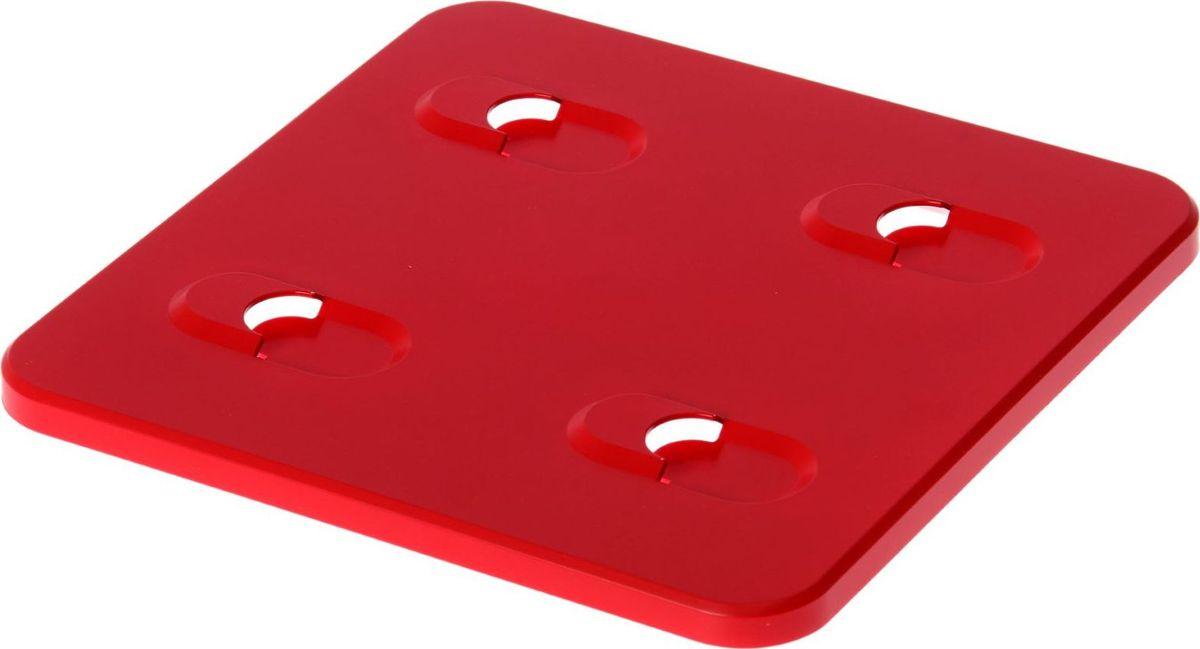 Панель фитомодуля WallGarden, настенная, цвет: красный, 25,7 х 25,7 х 1,5 см1495080Фитомодуль — новинка в области вертикального озеленения. Конструкция, как и сборка, предельно проста. Повесьте панель фитомодуля на стену, вставьте кашпо в специальные пазы и готово! Он экономит пространство, презентабельно выглядит и органично дополнит релакс-зону в офисе или дома. При желании вы легко измените композицию, перемещая кашпо или меняя цветы. Разместите в фитомодуле искусственные растения или создайте интерьерную композицию, используя, например, яркие карандаши, фломастеры, игрушки, на что хватит фантазии. Родители маленьких детей оценят, что конструкцию можно разместить высоко, и малыши не смогут исследовать ее. Станьте флористом, сотворите уникальную композицию!