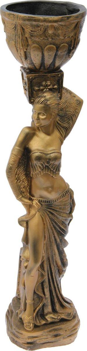 Кашпо Танцовщица, цвет: бронзовый, 26 х 23 х 85 см1499149