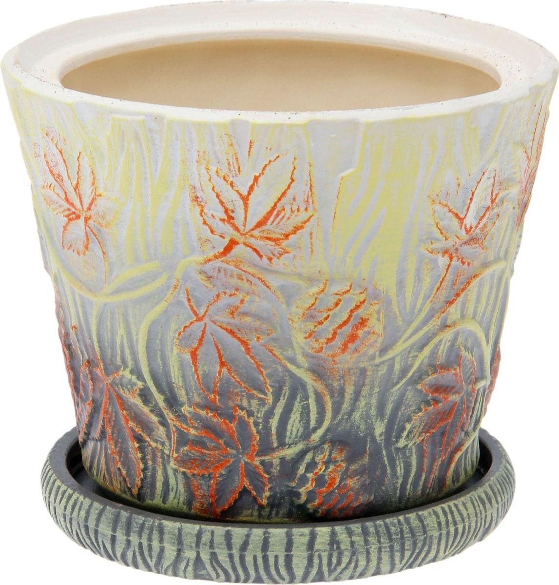 Кашпо Керамика ручной работы Хмель, цвет: желтый, 3 л1502112Комнатные растения — всеобщие любимцы. Они радуют глаз, насыщают помещение кислородом и украшают пространство. Каждому из них необходим свой удобный и красивый дом. Кашпо из керамики прекрасно подходят для высадки растений: за счёт пластичности глины и разных способов обработки существует великое множество форм и дизайновпористый материал позволяет испаряться лишней влагевоздух, необходимый для дыхания корней, проникает сквозь керамические стенки! #name# позаботится о зелёном питомце, освежит интерьер и подчеркнёт его стиль.