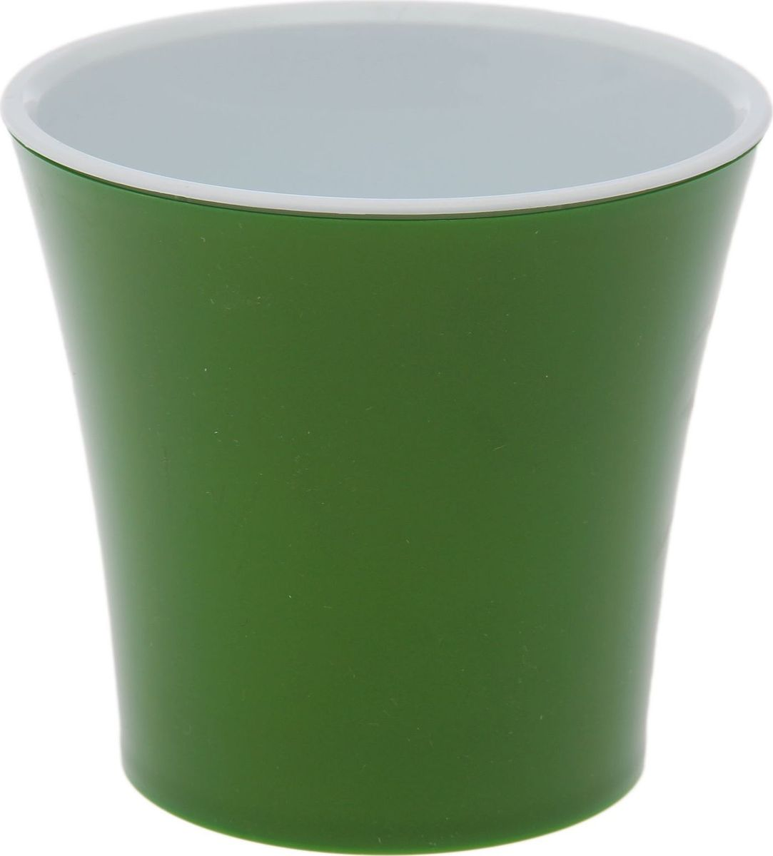 Горшок для цветов Santino Арте, цвет: зеленый, белый, 0,6 л1510707Горшок Santino Арте, выполненный из высококачественного пластика, предназначен для выращивания комнатных цветов, растений и трав. Специальная конструкция обеспечивает вентиляцию в корневой системе растения, а дренажные отверстия позволяют выходить лишней влаге из почвы. Такой горшок порадует вас современным дизайном и функциональностью, а также оригинально украсит интерьер любого помещения. Размеры внутреннего вкладыша - высота 10 см, верхний диаметр - 11 см, нижний - 8 см.