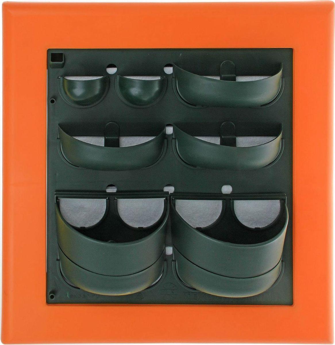 Кашпо Техоснастка Фитокартина, настенное, цвет: оранжевый, 59 х 58 х 13 см1533686Любой, даже самый современный и продуманный интерьер не будет выглядеть завершенным без растений. Они не только очищают воздух и насыщают кислородом, но и заметно украшают окружающее пространство. Такому полезному члену семьи просто необходим красивый и функциональный дом . Наше предложение фитокартина! Благодаря съемным блокам-кашпо вы сможете создать любую композицию на свой вкус. Как собирать?Распакуйте фитопанель, подготовьте необходимое количество растений.Возьмите маленький горшок и разместите в нем водопроводящий картридж (входит в комплект).Разместите подходящее по размеру растение в горшке.Поместите картридж с растением между передней частью панели и капиллярным матом.Закрепите горшок с растением на фитомодуле.Вставив в каждую выемку картридж, закрепите на фитомодуле нижнюю часть большого горшка.Затем так же закрепите верхнюю часть большого горшка строго над нижней.Посадите в большой горшок выбранное растение. Ваша фитокартина готова! Фотоинструкция. Рекомендации по поливу Вставьте в левый нижний угол водоотводящую трубку. Медленно заливайте воду в панно через поливочное отверстие. Как только она покажется в трубке, прекратите полив. Опустив трубку вниз, можно слить ненужную жидкость обратно в лейку. Уберите трубку до следующего орошения. Режим полива зависит от температуры и влажности в помещении, состава грунта, интенсивности освещения, возраста и типа растения и многих других факторов. Частота может варьироваться от 2 до 4 недель. Чтобы растение легко прижилось в новом горшке, рекомендуем первые 3?4 недели производить полив не через трубку, а напрямую в грунт, используя лейку с узким носиком. Создавать красоту просто! Наполните свой дом прекрасными цветами, а мы позаботимся о низкой цене и высоком качестве от российского производителя.