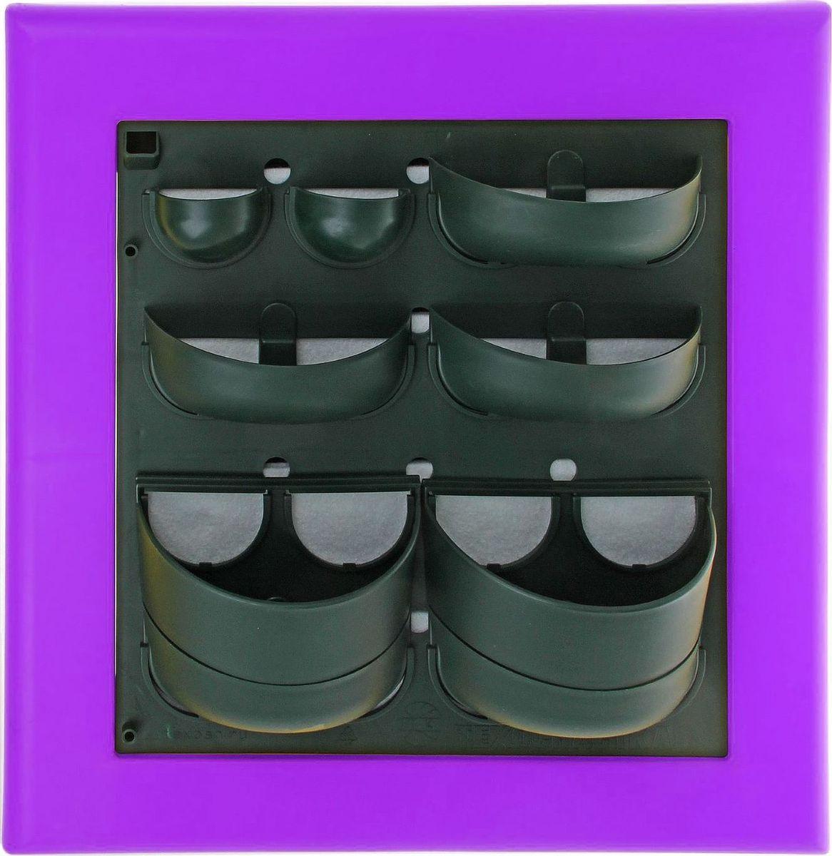 Кашпо Техоснастка Фитокартина, настенное, цвет: сиреневый, 59 х 58 х 13 см1533687Любой, даже самый современный и продуманный интерьер не будет выглядеть завершённым без растений. Они не только очищают воздух и насыщают кислородом, но и заметно украшают окружающее пространство. Такому полезному &laquo члену семьи&raquoпросто необходим красивый и функциональный &laquo дом&raquo . Наше предложение &mdashфитокартина! Благодаря съёмным блокам-кашпо вы сможете создать любую композицию на свой вкус. Как собирать? Распакуйте фитопанель, подготовьте необходимое количество растений.Возьмите маленький горшок и разместите в нем водопроводящий картридж (входит в комплект).Разместите подходящее по размеру растение в горшке.Поместите картридж с растением между передней частью панели и капиллярным матом.Закрепите горшок с растением на фитомодуле.Вставив в каждую выемку картридж, закрепите на фитомодуле нижнюю часть большого горшка.Затем так же закрепите верхнюю часть большого горшка строго над нижней.Посадите в большой горшок выбранное растение. Ваша фитокартина готова!Фотоинструкция.Рекомендации по поливу Вставьте в левый нижний угол водоотводящую трубку. Медленно заливайте воду в панно через поливочное отверстие. Как только она покажется в трубке, прекратите полив. Опустив трубку вниз, можно слить ненужную жидкость обратно в лейку. Уберите трубку до следующего орошения. Режим полива зависит от температуры и влажности в помещении, состава грунта, интенсивности освещения, возраста и типа растения и многих других факторов. Частота может варьироваться от 2 до 4 недель. Чтобы растение легко прижилось в новом горшке, рекомендуем первые 3?4 недели производить полив не через трубку, а напрямую в грунт, используя лейку с узким носиком. Создавать красоту просто! Наполните свой дом прекрасными цветами, а мы позаботимся о низкой цене и высоком качестве от российского производителя.&nbsp