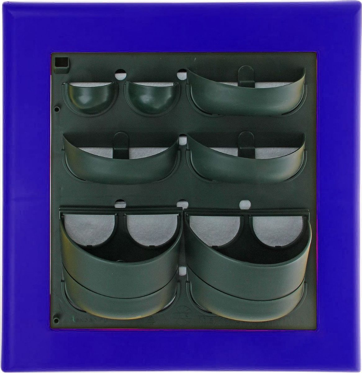 Кашпо Техоснастка Фитокартина, настенное, цвет: синий, 59 х 58 х 13 см1533691Любой, даже самый современный и продуманный интерьер не будет выглядеть завершённым без растений. Они не только очищают воздух и насыщают кислородом, но и заметно украшают окружающее пространство. Такому полезному &laquo члену семьи&raquoпросто необходим красивый и функциональный &laquo дом&raquo . Наше предложение &mdashфитокартина! Благодаря съёмным блокам-кашпо вы сможете создать любую композицию на свой вкус. Как собирать? Распакуйте фитопанель, подготовьте необходимое количество растений.Возьмите маленький горшок и разместите в нем водопроводящий картридж (входит в комплект).Разместите подходящее по размеру растение в горшке.Поместите картридж с растением между передней частью панели и капиллярным матом.Закрепите горшок с растением на фитомодуле.Вставив в каждую выемку картридж, закрепите на фитомодуле нижнюю часть большого горшка.Затем так же закрепите верхнюю часть большого горшка строго над нижней.Посадите в большой горшок выбранное растение. Ваша фитокартина готова!Фотоинструкция.Рекомендации по поливу Вставьте в левый нижний угол водоотводящую трубку. Медленно заливайте воду в панно через поливочное отверстие. Как только она покажется в трубке, прекратите полив. Опустив трубку вниз, можно слить ненужную жидкость обратно в лейку. Уберите трубку до следующего орошения. Режим полива зависит от температуры и влажности в помещении, состава грунта, интенсивности освещения, возраста и типа растения и многих других факторов. Частота может варьироваться от 2 до 4 недель. Чтобы растение легко прижилось в новом горшке, рекомендуем первые 3?4 недели производить полив не через трубку, а напрямую в грунт, используя лейку с узким носиком. Создавать красоту просто! Наполните свой дом прекрасными цветами, а мы позаботимся о низкой цене и высоком качестве от российского производителя.&nbsp