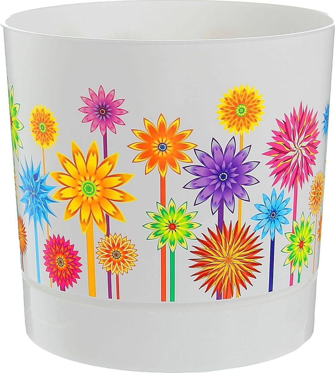 Горшок для цветов VesnaDecor Астры, с подставкой, 3,6 л1537087