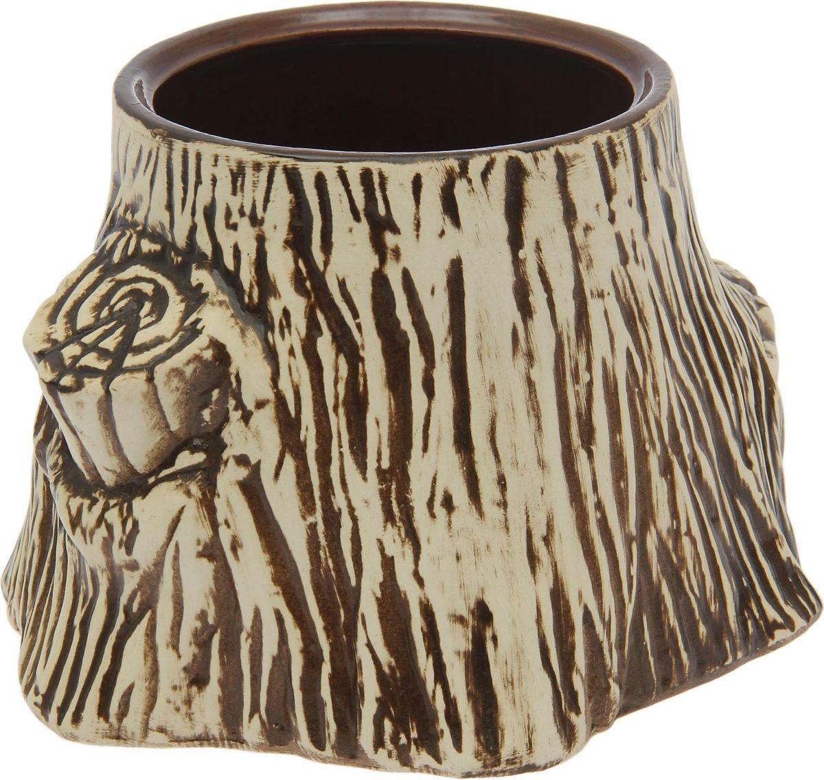 Кашпо Керамика ручной работы Пенек, 25 х 22 х 15 см1590137