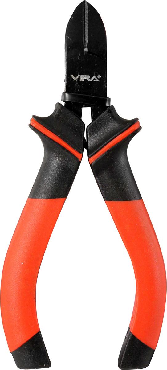 Бокорезы мини Vira, 4.5. 311051311051Бокорезы предназначены для разрезания различных по толщине проводов или проволоки. Увеличенный размер бокорезов позволяет разрезать более толстые предметы. Удлиненные ручки позволяют прилагать меньшее усилие при работе.Инструмент выполнен из высококачественной инструментальной стали CS55. Твердость режущих кромок составляет 56-62 HRC. На рабочую часть нанесено воронение, которое в значительной степени увеличивает долговечность инструмента.Бокорезы оптимизированы для слесарно-монтажных работ. Двухкомпонентные ручки эргономичной формы обеспечивают удобство и безопасность работы.