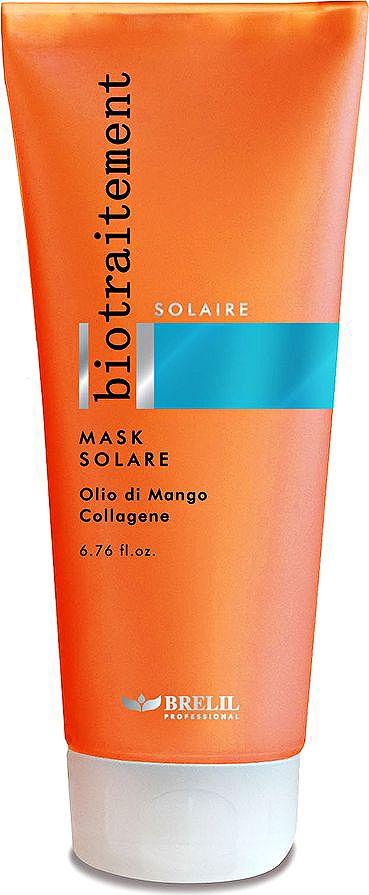 Brelil Bio Traitement Solaire Mask Solare Маска после солнца 200 млB061042Маска после солнца Brelil Bio Traitement предназначена для восстановления волос от неблагоприятных последствий пребывания на солнце и в соленом растворе морской воды. Обладает интенсивным питательным действием.
