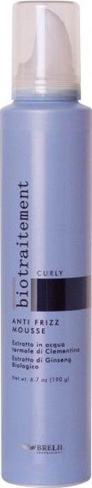 Brelil Bio Traitement Curly Mousse Мусс для вьющихся волос 200 млB069576Brelil Bio Traitement Curly Mousse Мусс для вьющихся волос создан по уникальной формуле, благодаря которой у Вас появится отличная возможность придать непослушным кудрям желаемую форму. Мусс на термальной воде содержит в составе витаминный комплекс, который питает волосы, мгновенно устраняя пушистость и делает волосы сильными и эластичными. Витамины проникают глубоко в структуру каждого волоса, укрепляя его изнутри, наделяя здоровьем и сохраняя оптимальный баланс влажности. Также в составе мусса содержится натуральный экстракт клементина, который наполняет волосы энергией и придаёт им шелковистость.Мусс Брелил Bio Traitement устраняет неэстетичную курчавость волос, делает волосы послушными и густыми, без их утяжеления.