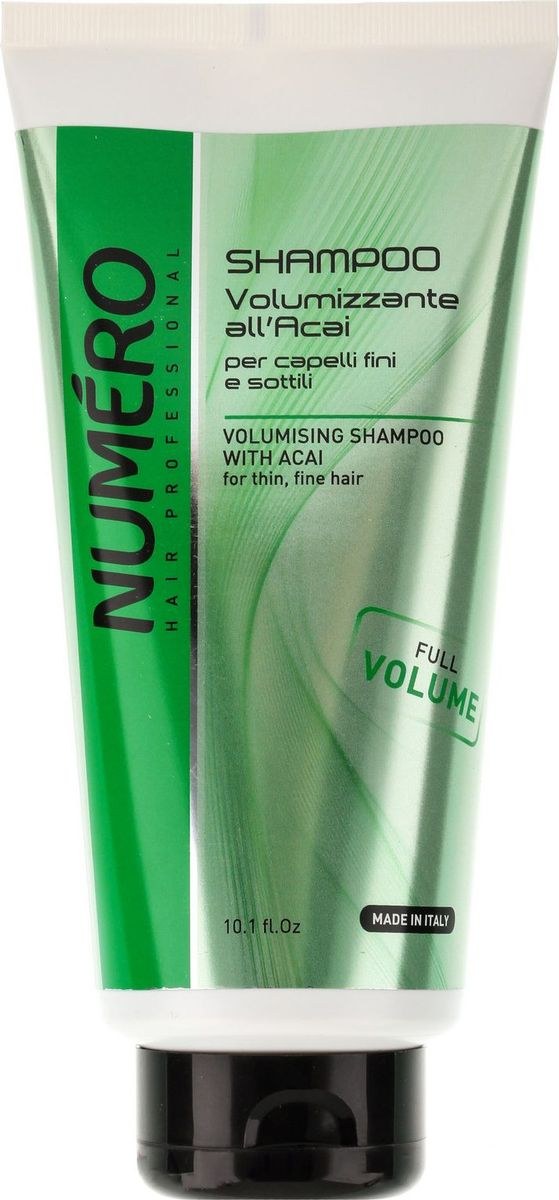 Brelil Numero Volume Шампунь для придания объема с экстрактом ягод асаи 300 мл шампунь brelil professional numero volume volumising shampoo