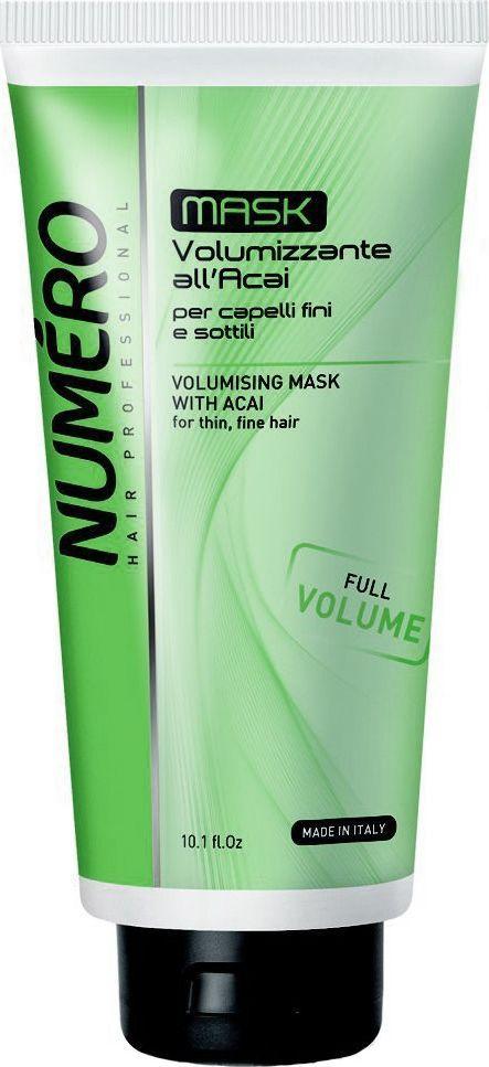 Brelil Numero Volume Маска для придания объема с экстрактом ягод асаи 300 мл шампунь brelil professional numero volume volumising shampoo
