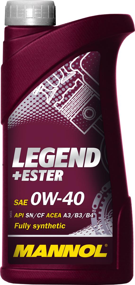 Масло моторное MANNOL Legend+Ester, 0W-40, синтетическое, 1 л1000Моторное масло Mannol Legend+Ester - универсальное всесезонное полностью синтетическое энергосберегающее моторное масло, предназначенное для новых поколений всех типов двигателей. Благодаря уникальной би-синтетической основе обеспечивает мгновенную смазку при экстремально низких температурах. Предотвращает пусковой износ. Обеспечивает исключительную чистоту деталей двигателя. Гарантирует максимальную защиту от износа на всех режимах работы двигателя.Допуски и соответствия ACEA A3/B3/B4, MB 229.3. Вязкость при -35°C: 6200 CP. Вязкость при 100°C: 12,55 CSt. Вязкость при 40°C: 68,2 CSt. Индекс вязкости: 185. Плотность при 15°C: 842 kg/m3. Температура вспышки COC: 224 °C. Температура застывания: -50 °C. Щелочное число: 10,16 gKOH/kg. Товар сертифицирован.