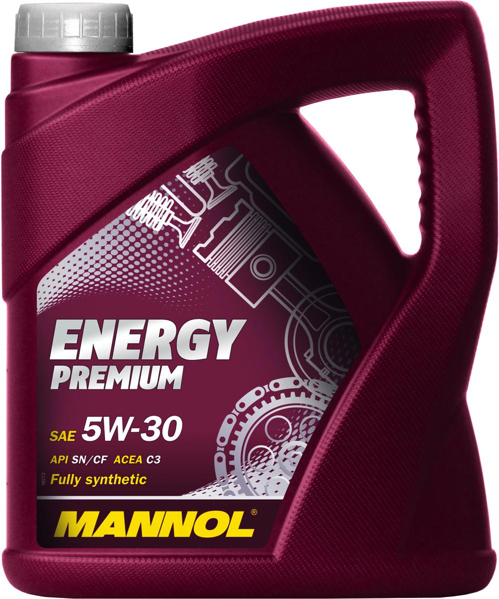 Моторное масло MANNOL Energy Premium, 5W-30, API SN/CF, синтетическое, 4 лкн12-60авцУниверсальное синтетическое моторное масло, предназначенное для использования в бензиновых и дизельных двигателях автомобилей, оснащенных турбонаддувом и без него, оборудованных и необорудованных сажевыми фильтрами (DPF, FAP) и другими системами очистки выхлопных газов. Современный пакет присадок обеспечивает максимальную защиту от износа и исключительную чистоту деталей двигателя в суровых условиях эксплуатации. Полностью синтетическая базовая основа гарантирует исключительную стабильность всех характеристик моторного масла даже в увеличенных интервалах техобслуживания (до 40 000 км). Может использоваться в автомобилях, переоборудованных под использование сжиженного или природного газа (LPG/CNG).Допуски и соответствия ACEA C3, MB 229.51, VW 505.01/505.00/502.00, BMW LL-04,GM dexos2
