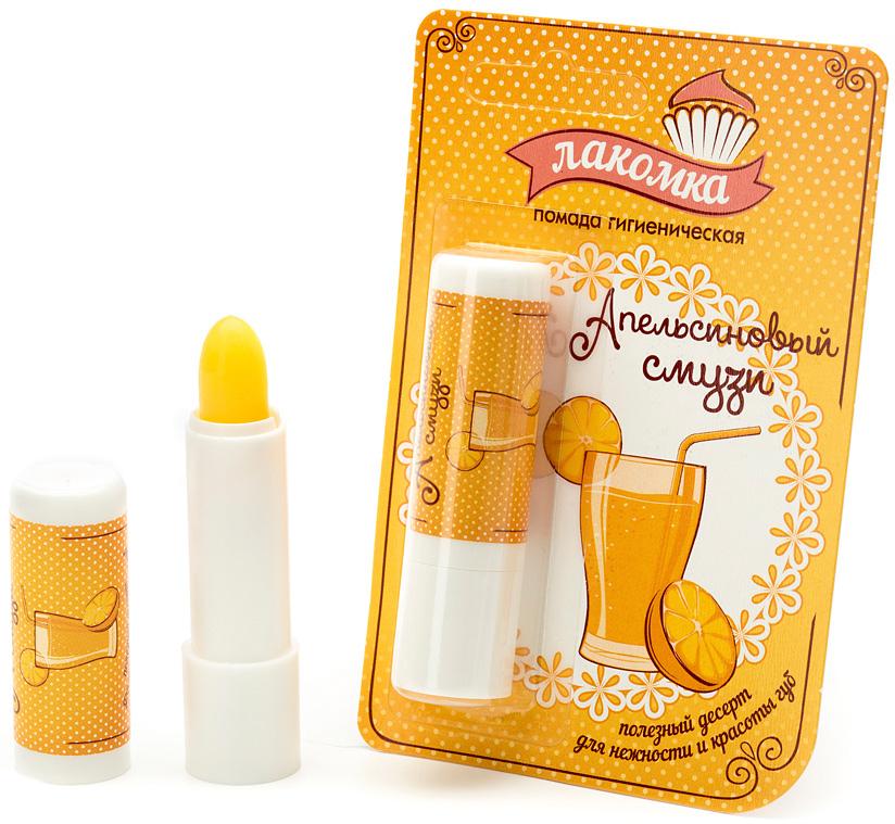 Лакомка Губная помада гигиеническая Апельсиновый смузи, 2,8 г355508451Стоит лишь нанести на губы помаду Апельсиновый смузи, и ты почувствуешь себя на берегу моря, греясь на солнышке и медленно попивая свежевыжатый апельсиновый сок. Наслаждайся ярким вкусом на своих губах, а красоту, мягкость и нежность им подарят натуральные природные компоненты: •масло какао интенсивно увлажняет, смягчает и поддерживает здоровое состояние кожи губ в течение всего года; •масло облепихи устраняет сухость и шелушение, предупреждает обветривание и возникновение раздражения; •экстракт цветков календулы в комбинации с витамином Е защищает губы от неблагоприятных факторов внешней среды, в том числе от УФ-излучения.