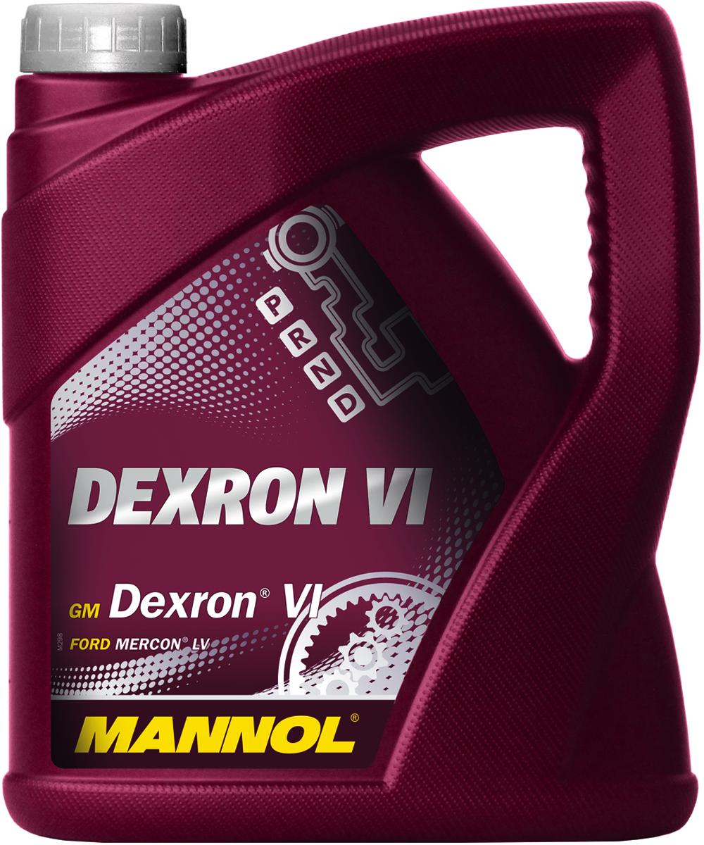 Масло трансмиссионное MANNOL Dexron VI, синтетическое, 4 л1483Трансмиссионное масло Mannol Dеxron VI - жидкость высочайшего качества для автоматических трансмиссий легковых и грузовых автомобилей, предписывающих применение стандарта GM Dexron VI или более раннего поколения Dexron. Благодаря использованию высококачественных базовых масел и эффективного пакета присадок жидкость обладает улучшенными фрикционными характеристиками, обеспечивая четкое переключение передач в любых условиях вождения и продлевая срок службы АКПП. Mannol Dexron VI рекомендуется к применению в новых шестиступенчатых АКПП автомобилей GM, BMW, Land Rover, Jaguar. Может использоваться в широком диапазоне эксплуатационных условий.Продукт имеет допуски / соответствует спецификациям / продуктам: GM DEXRON VI, FORD Mercon LV, TOYOTA Type WS, HYUNDAI SP-IV, NISSAN Matic S, ALLISON C4, CHRYSLER ATF +4, SHELL M-1375.4, JASO 1A, MB 236.14. Товар сертифицирован.