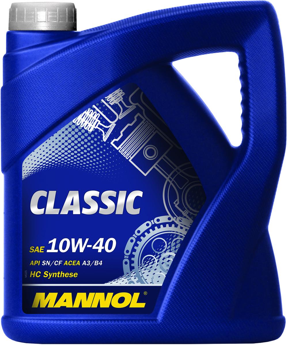 Масло моторное MANNOL Classic, 10W-40, полусинтетическое, 5 л1155Моторное масло Mannol Classic - универсальное всесезонное полусинтетическое моторное масло. Содержитуникальный пакет присадок, обеспечивающий высокие противоизносные и энергосберегающие свойства.Гарантирует надежную смазку даже при низких температурах окружающей среды. Эффективно предотвращаетобразование лаков и нагаров. Разработано для всех современных типов двигателя, с турбонаддувом и без,многоклапанных, с прямым впрыском, а также для двигателей, работающих на газе. Допуски и соответствия ACEA A3/B4, VW 502.00/505.00, MB 229.1, RENAULT RN0700.Вязкость при -25°C: 6980 CP. Вязкость при 100°C: 14,34 CSt. Вязкость при 40°C: 94,6 CSt. Индекс вязкости: 156. Плотность при 15°C: 872 kg/m3. Температура вспышки COC: 226 °C. Температура застывания: -42 °C. Щелочное число: 10,24 gKOH/kg.Товар сертифицирован.