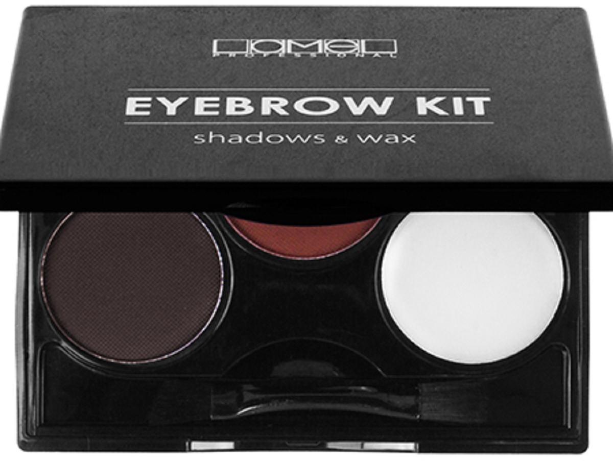 Lamel Professional Набор для бровей Eye Brow Kit тени и воск 02, 8 г кисть для коррекции бровей eye brow brush seventeen