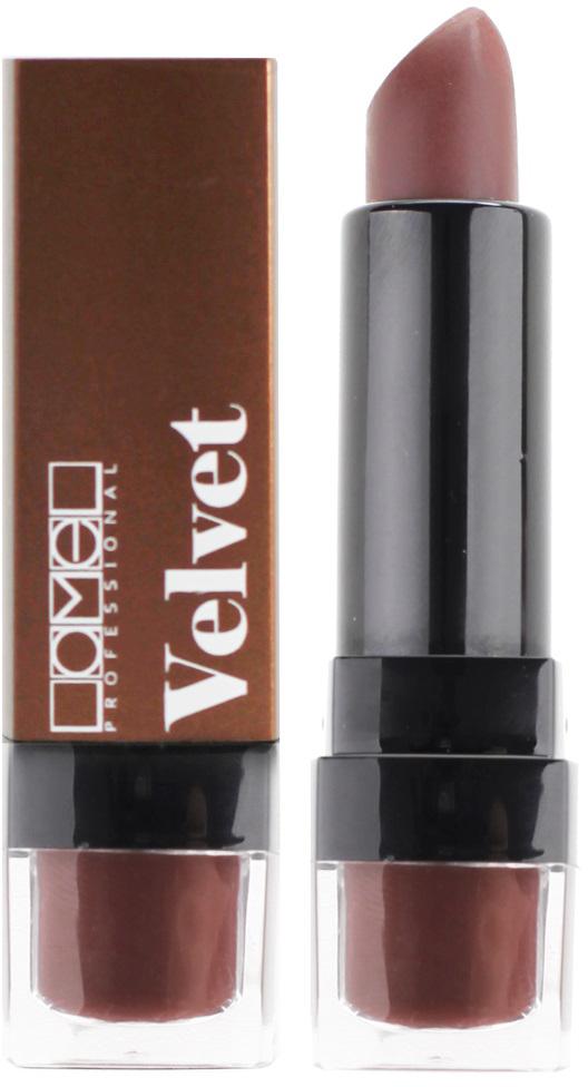 Lamel Professional Помада для губ Velvet матовая 01, 4 г5060449184223Матовая помада Lamel Velvet – любовь с первого прикосновения к вашим губам, обладает нежной, бархатистой текстурой, которая равномерно распределяется по коже, не подчеркивая шелушений и других недостатков. Помада не растекается, не скатывается в уголках и не сушит губы. Формула средства содержит витамин E и лецитин, благодаря чему помада оказывает на кожу губ ухаживающее действие – разглаживает, увлажняет и питает ее, даря Вам ощущение комфорта на весь день. Трендовая гамма из 6 цветов – вы захотите купить их все!