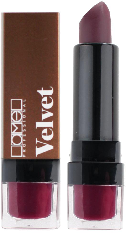 Lamel Professional Помада для губ Velvet матовая 05, 4 г5060449184995Матовая помада Lamel Velvet – любовь с первого прикосновения к вашим губам, обладает нежной, бархатистой текстурой, которая равномерно распределяется по коже, не подчеркивая шелушений и других недостатков. Помада не растекается, не скатывается в уголках и не сушит губы. Формула средства содержит витамин E и лецитин, благодаря чему помада оказывает на кожу губ ухаживающее действие – разглаживает, увлажняет и питает ее, даря Вам ощущение комфорта на весь день. Трендовая гамма из 6 цветов – вы захотите купить их все!