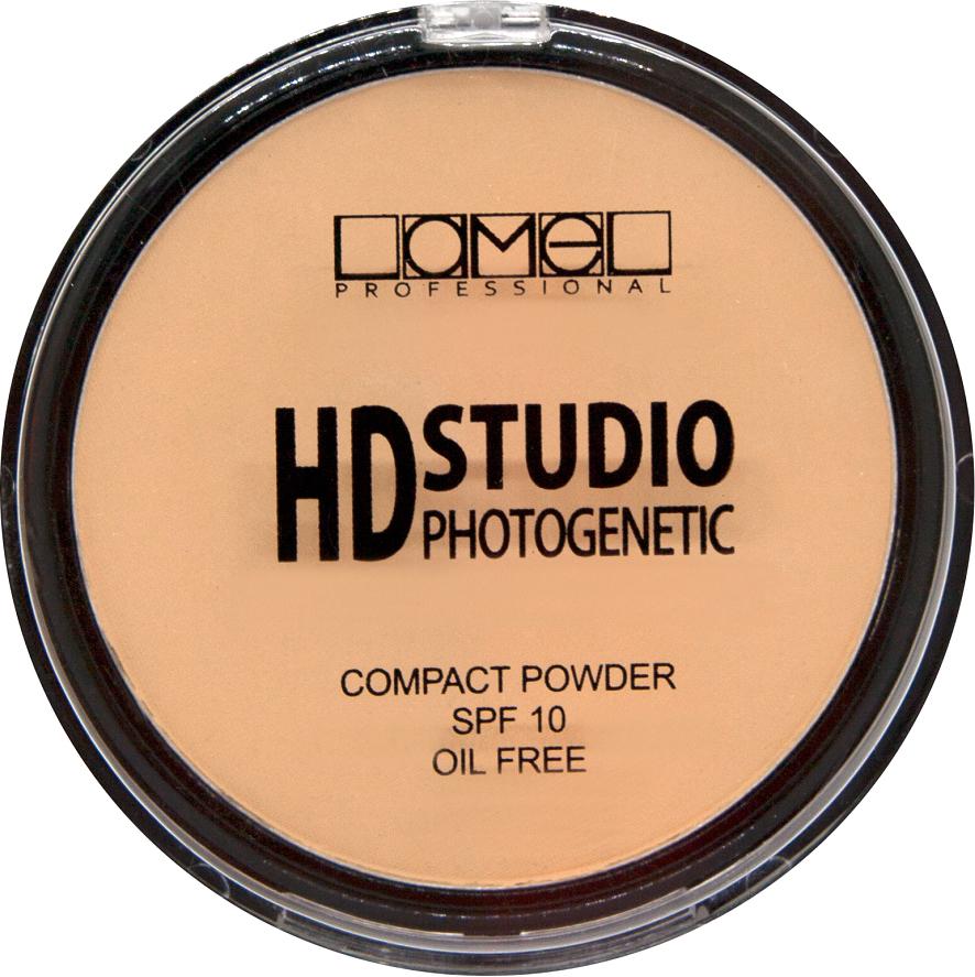 Lamel Professional Пудра компактная для лица HD Powder 302, 12 г туши lamel lamel professional тушь для ресниц ideal lash